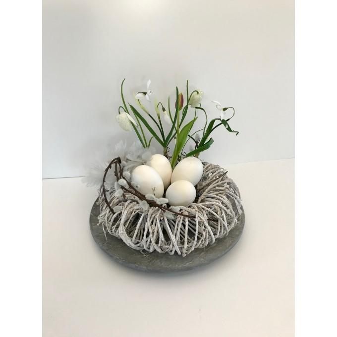 Dekorace velikonoční husí vejce