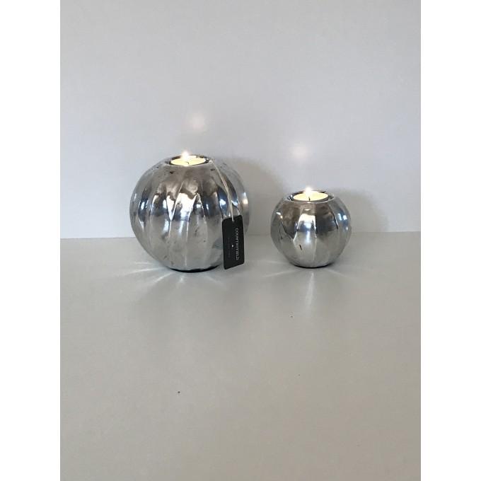 Koule stříbrné - svícen, set -50%