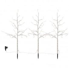 Strom světelný bříza set/3ks