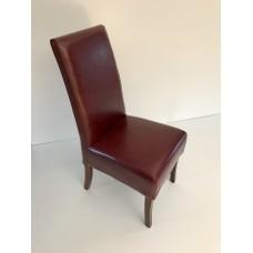 Židle kožená, vínová