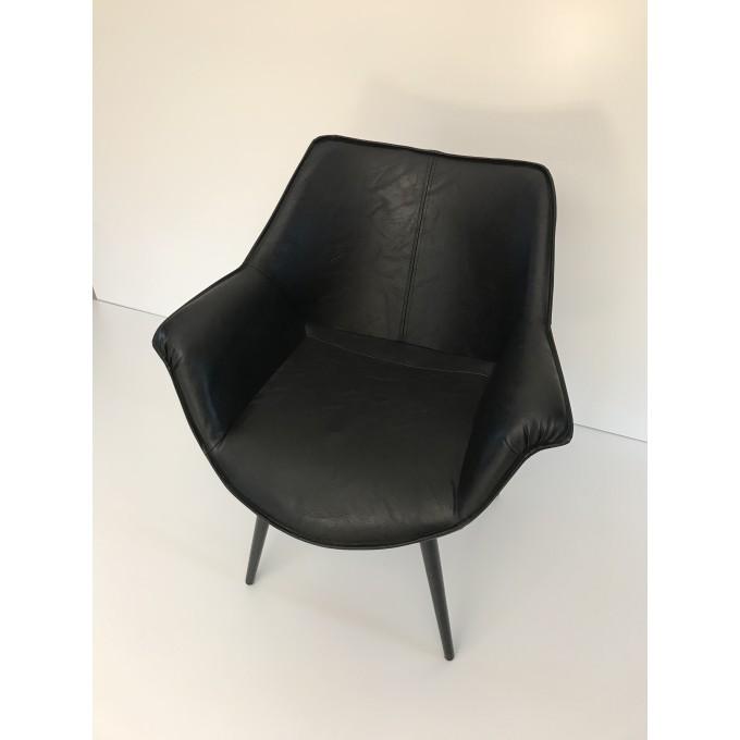Židle jídelní Riverdale, černá -30%